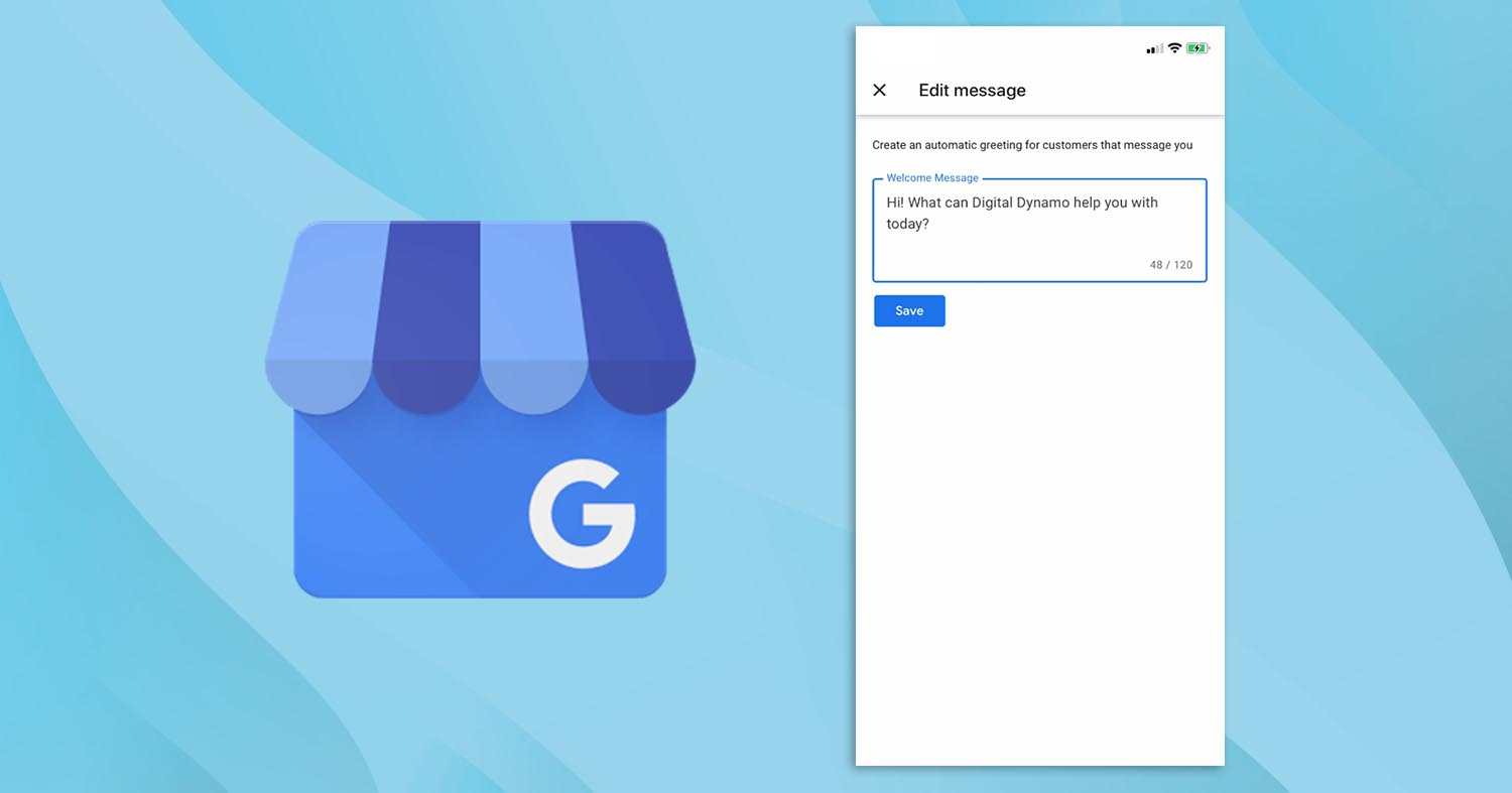 Google My Business messaging