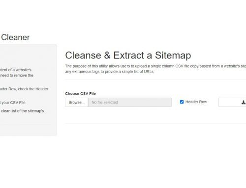 Free Sitemap Cleaner